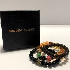 Buddha Power Beaded Bracelets- Set of Three